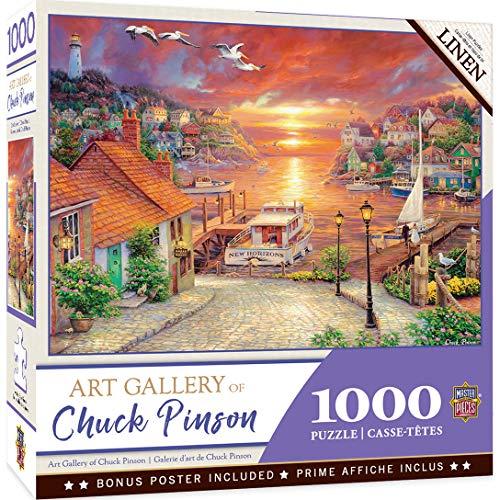 MasterPieces Chuck Pinson Art Gallery Linen Jigsaw Puzzle, New Horizons, 1000Piece