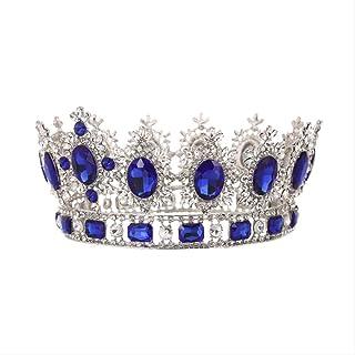 LUCKYYY Accessori da Sposa Rotondi Vintage per la Sposa della Corona Europea della Sposa
