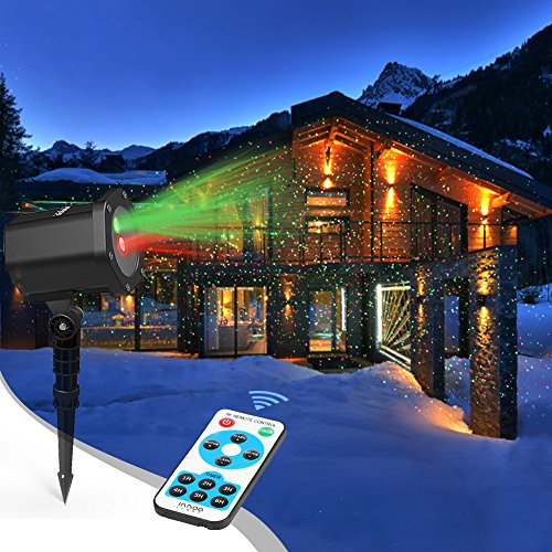 Christmas Laser Lights Holloween Starry Lights Red and Green Outdoor Garden Christmas Holiday Party Halloween Decoration {Waterproof 5M Cable with RF Remote}