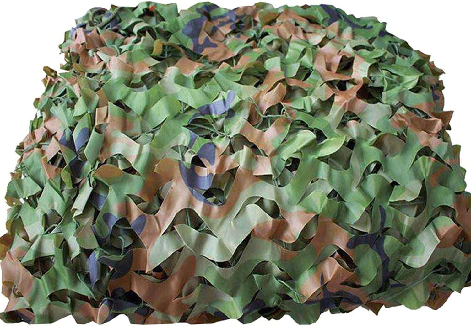 Woodland Camouflage Netting UV Resistant Shade Camo Netting Outdoor Jungle Sunshading Net for Hunting Blind Shooting Camping Hiding Photography Jungle