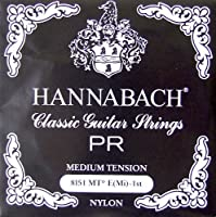 HANNABACH E8151 MT-Black E/1 1弦 クラシックギターバラ弦 1弦×6本セット