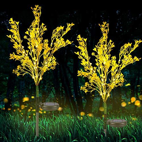 Neporal Garden-Solar Lights-Outdoor-Decorativas, Paquete de 2 luces solares de jardín con energía solar IP65 impermeable