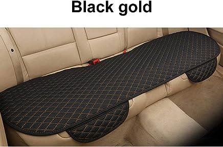 Cojín del asiento de coche asiento trasero transpirable Universal Cómodo bolso de almacenamiento Funda de asiento delantero Protector del asiento del coche Cojín Black Golden
