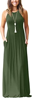 SVALIY Summer Womens Sleeveless Tunic Causal Long Maxi...