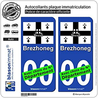 Aggressive 49 Pays De La Loire Departement Immatriculation 2 X Autocollants Sticker Automobilia