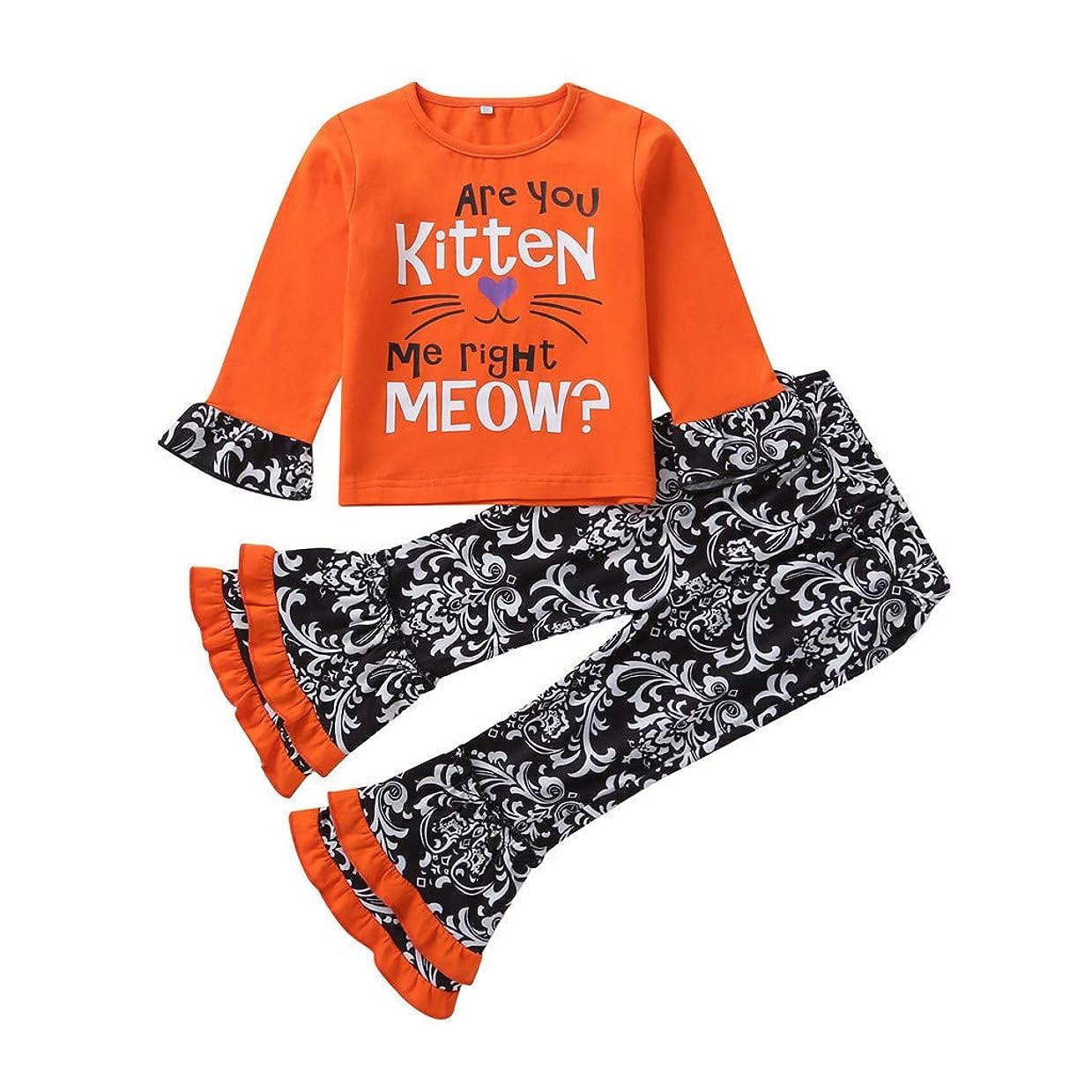 動ロバとらえどころのないREWAGO 幼児キッズベビーガールズハロウィンドレス+漫画プリントパンツ+ヘッドバンド衣装