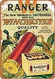 2 Pcs 7 x 10 Metal Sign - Winchester Ranger Shotgun Shells - Vintage Look