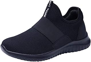 LANCROP Women's Walking Shoes - Casual Breathable Athletic Tennis Slip on Sneakers