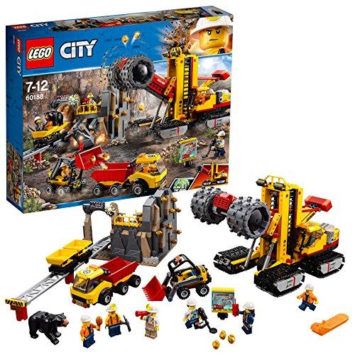 LEGO City Mining - Mina Área de Expertos, Juguete de Construcción Educativo con Vehículos y Grúas para Niños y Niñas de 7 a 12 Años (60188)