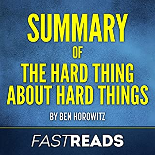 Summary of 'The Hard Thing About Hard Things by Ben Horowitz' audiobook cover art