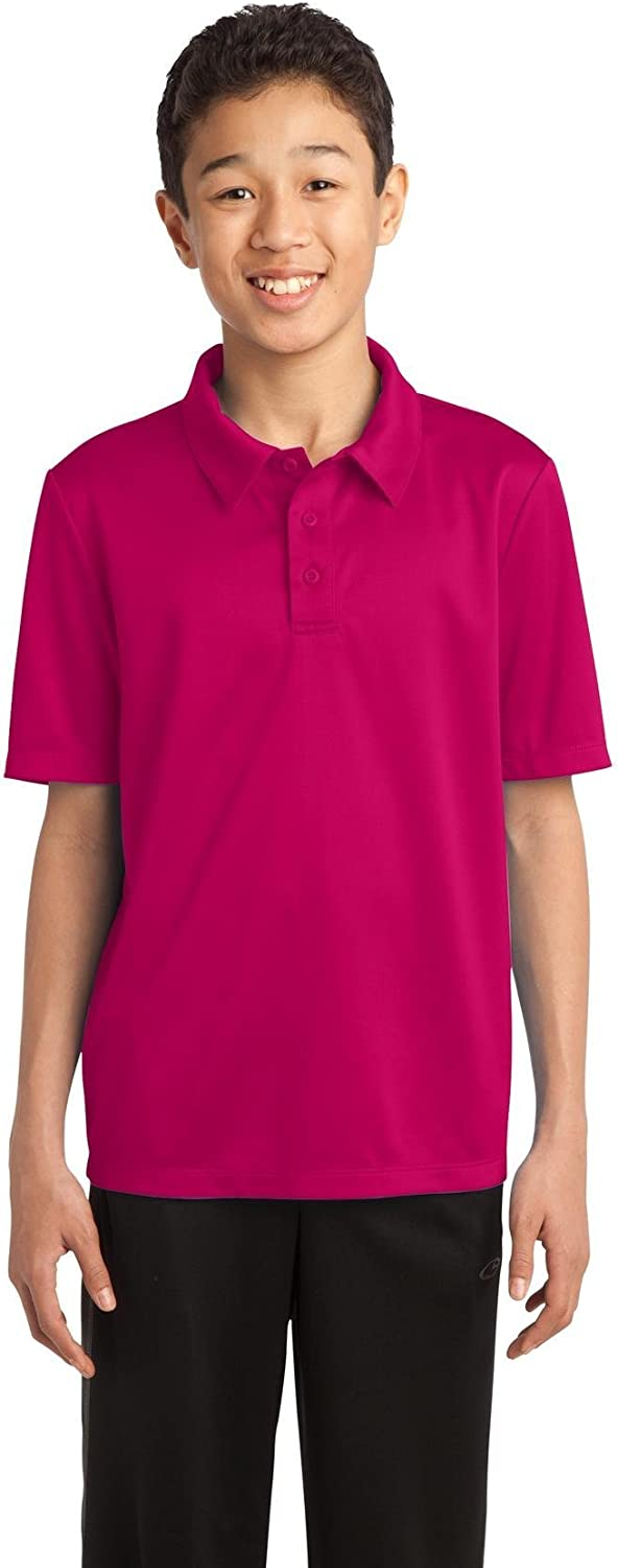 Port Authority Youth Silk Touch Performance Polo. Y540 Pink Raspberry M