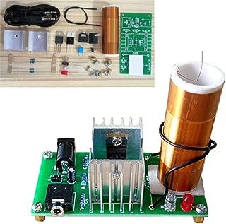 DIY Mini Tesla Coil Kit 15W Mini Music Tesla Coil Plasma Speaker Tesla Wireless Transmission DC 15-24V Dingdong Store (Tesla A)