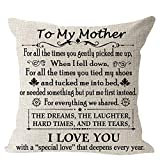 Blessing to My Mom We Share Dreams Laughter Hard Time Tear I Love You Cotton Linen Square Throw Waist Pillow Case Decorative Cushion Cover Pillowcase Sofa 18'x 18'
