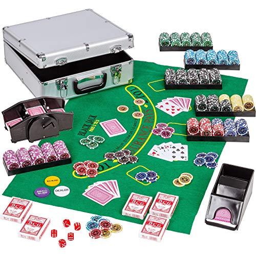 Maxstore Kit de Poker Ultimate Complet - 600 jetons