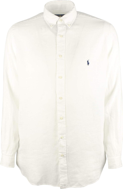 Polo Ralph Lauren Men's Big and Tall Linen Long Sleeves Shirt