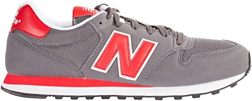 New Balance - GM500RL - Color: Grigio-Rosso - Size: 45.5 : Amazon ...