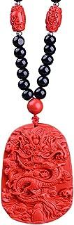 cinnabar dragon pendant