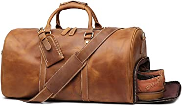 camel leather duffle bag
