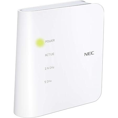 NEC Atermシリーズ WF1200CR [Wi-Fiホームルーター/ホワイト] 親機単体 (Wi-Fi 5(11ac)対応) 搭載型番:PA-WF1200CR