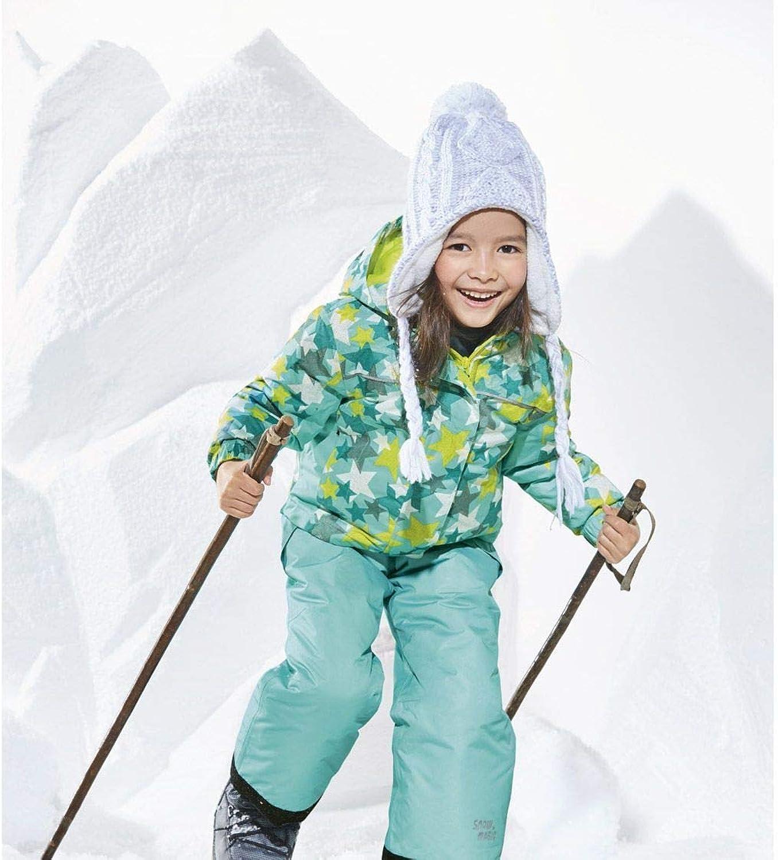Mädchen Kinder Winterjacke Kapuze Skijacke Schneejacke Blau 86-92 98-104 110-116