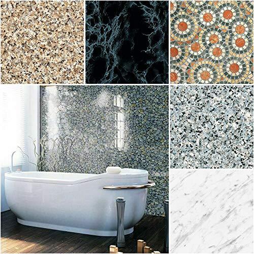 (7,40 €/m²) d-c-fix Verschiedene Dekore und Maße Stein Beton Marmor Selbstklebende Folie Möbel Küche Tür Klebefolie (Concrete, 200 x 67,5cm)