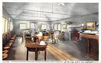 Camp Lost Arrow California Office Interior Detroit Pub Antique Postcard K102638
