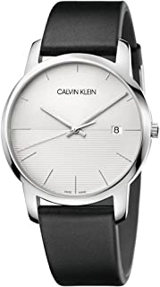 Calvin Klein City K2G2G1CD Leather Analog Casual Watch for Men