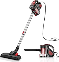 INSE Vacuum Cleaner Corded Stick, 18Kpa Powerful Suction, Extension Wand, Handheld..