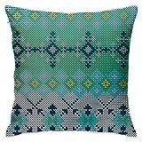 XCNGG Funda de almohadaEuropean Modern Minimalist Abstract Pattern Throw Pillow Christmas Sweater Pattern Pillow Decoration Set 18 X 18 Inches