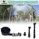 Landrip Trampolin Sprinkler, Outdoor Trampolin Wasserpark Sprinkler Sommer für Sommer Wasserspaß...