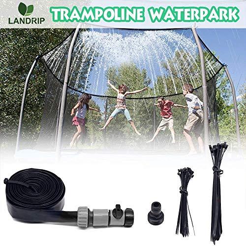 Landrip Aspersor de trampolín para Parque acuático Aspersores de trampolín al Aire Libre Aspersores para niños Diversión de Verano Aspersores para Juegos de Agua al Aire Libre(26.2 pies)