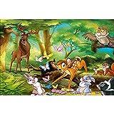 YeeATZ - Puzzles de 1000 piezas Bambi: cartel de cubierta animada interactivo de 1000 piezas con experiencia de juego - Caja de rompecabezas premium de 75 x 50 cm
