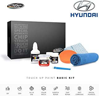 Color N Drive | Hyundai S3 - Black Noir Pearl Touch Up Paint | Compatible with All Hyundai Models | Paint Scratch, Chips Repair | OEM Quality | Exact Match | Basic