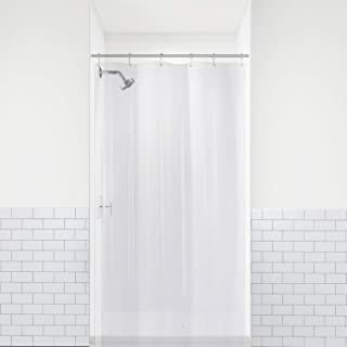 LiBa PEVA 8G Small Bathroom Shower Stall Curtain Liner, 36' W x 72' H Narrow Size, Clear, 8G Heavy Duty Waterproof Shower Stall Curtain Liner Anti-Microbial Mildew Resistant