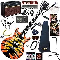 EDWARDS エレキギター 初心者 入門 Ken Yokoyama(横山 健)モデル ギターの練習が楽しくなるCDトレーナー(エフェクターも内蔵)と人気のギターアンプVOX Pathfinder10が入った強力21点セット E-SR-Kellogg