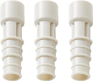 伊勢藤 エアコン排水ホース用防虫キャップ ホワイト 径2×6.5 日本製_エアコンホースに差し込むだけ I-578-3 3個組入