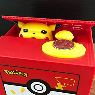 Yzhongx Spaarvarken creatieve, elektronische kunststof spaarpot stallen munt bank Pikachu geld veilig voor kinderen gesche...