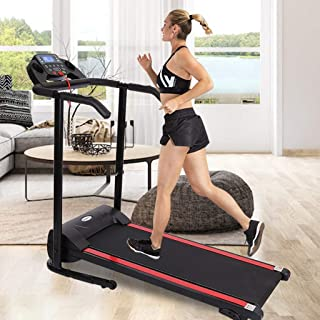 IGETELY Folding Treadmill, 1100W Folding Treadmill with LED Display,Device Holder, Shock Absorption and Incline,Installation-Free for Home/Office Use