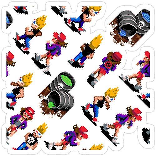 Vinyl Sticker for Cars, Trucks, Water Bottle, Fridge, Laptops Zombies Ate My Neighbors SNES (Zeke and Julie Pattern) Stickers (3 Pcs/Pack)