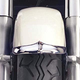 National Cycle Front Chrome Fender Tips for 1995-1999 Honda VT1100C2 Shadow Ace - Chrome - One Size