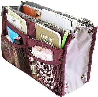 Gaorui Men's Bag in Bag Dual Insert Multi-Function Handbag Makeup Pocket Organizer Purse