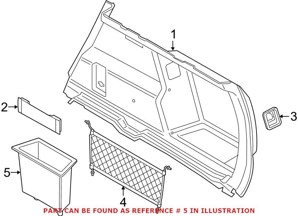 Genuine OEM Rear Spring new work Interior Quarter Panel Compartment Trim Storage Max 58% OFF