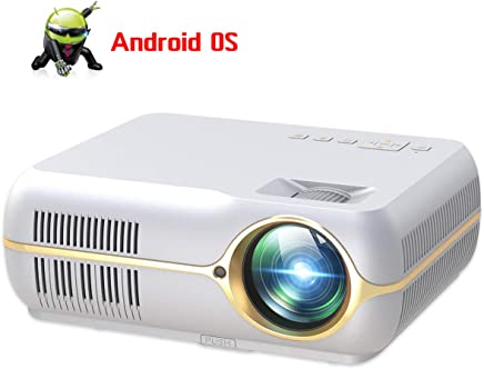 """$194 Get Full HD Projector with 4200 Lux, Android Wireless Video Projector with 200"""" Projection Size,Home Movie Cinema Support 1080P HDMI in VGA AV USB with Free AV VGA Cable"""