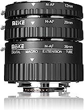 MEIKE N-AF1-A Macro Electronic Mount Auto Foucs Macro Metal Extension Tube Adapter for Nikon DSLR Camera D80 D90 D300 D300SD800 D3100 D3200 D5000 D5100 D5200 D7000 D7100 etc