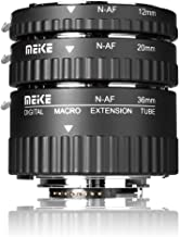 MEIKE MK-N-AF1-A Macro Electronic Mount Auto Foucs Macro Metal Extension Tube Adapter For Nikon DSLR Camera D80 D90 D300 D300SD800 D3100 D3200 D5000 D51000 D5200 D7000 D7100 etc