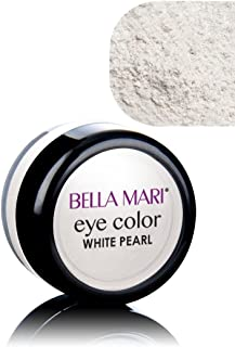 Bella Mari Natural Mineral Eyeshadow, White (Pearl); 0.1oz