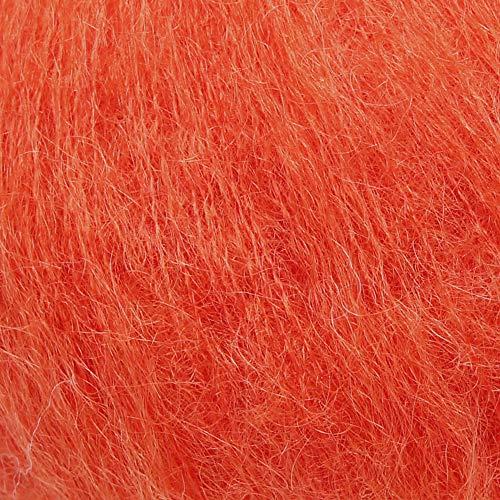 ggh Kid, Farbe:149 - Herbstorange, Mohairwolle, 25g Wolle als Knäuel, Lauflänge ca.250 m, Verbrauch 150g, Nadelstärke 4-5, Stricken