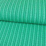 Stoffe Werning Jacquard Jersey Leichter Zopfstrick grün