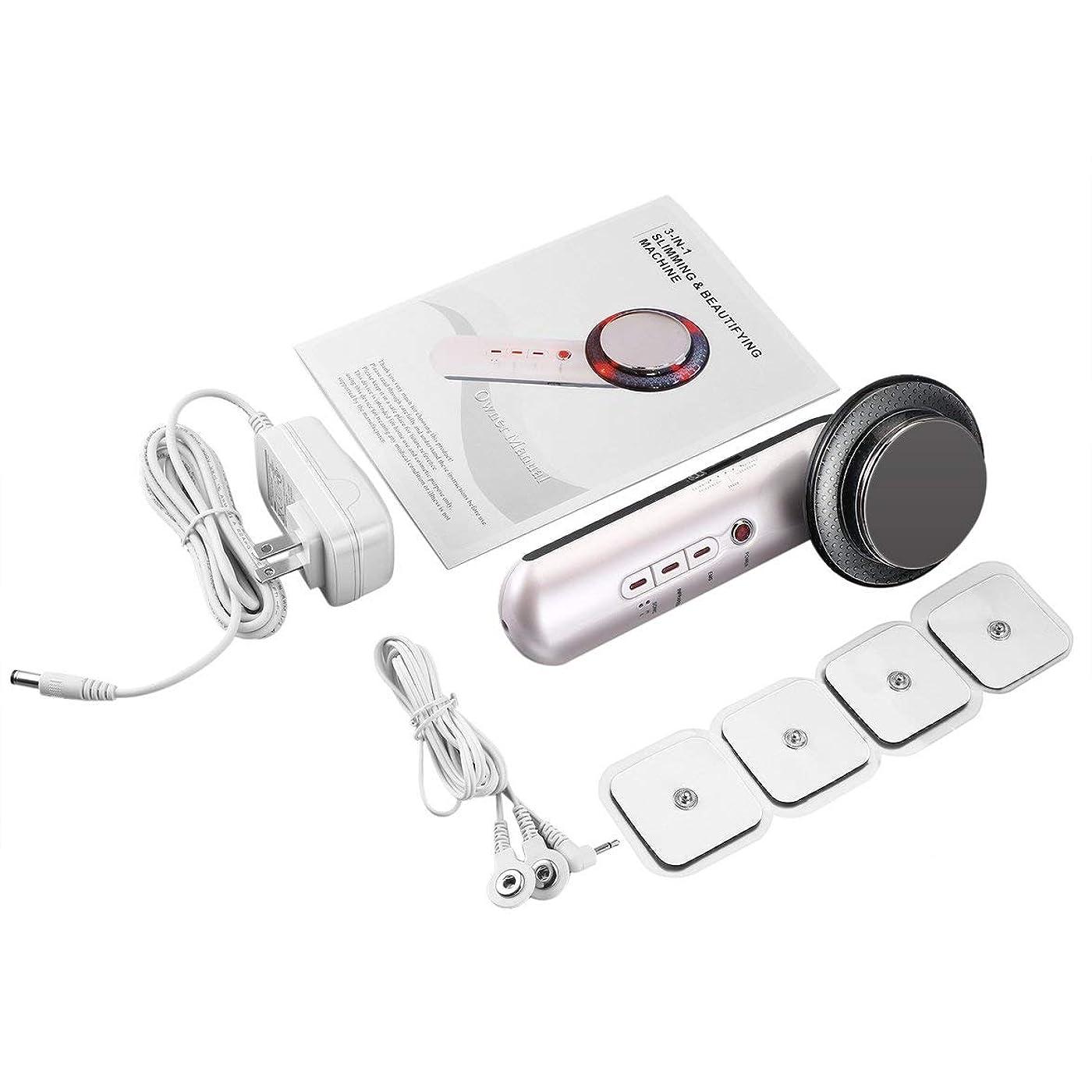 不実性別ホップ超音波キャビテーションボディスリミングマッサージャー減量アンチセルライトファットバーナーガルバニック赤外線超音波治療ツール - ホワイト&ブラック