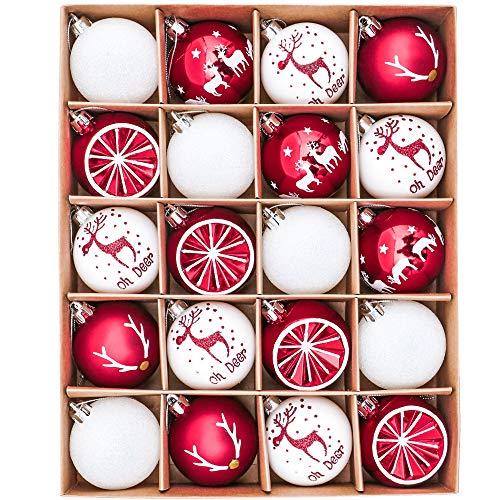 Victor's Workshop 20Pcs Bolas de Navidad 6cm, Adornos de Navidad para Arbol, Decoración de Bolas de Navideños...